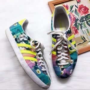 Adidas x Farm Co floral gazelles sneakers